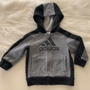 Infant Boys Adidas Cotton Zip Up Jacket